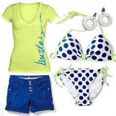 Hot Water Holly Side Tie Polka Dot Bikini