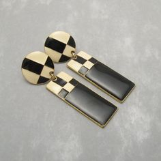 Art Deco Earrings by Cherie on Etsy