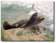 AVIATION ART HANGAR - Too Little Too Late by Keith Ferris (P-40)