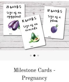 Pregnancy milestone cards from Audrey and Me