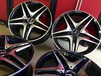MERCEDES 19 IN E63 BLACK EDT WHEELS RIMS  FITS EXCLUSIVE E350 E550  E400 E AMG