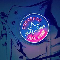 Shine bright. #converse #neon