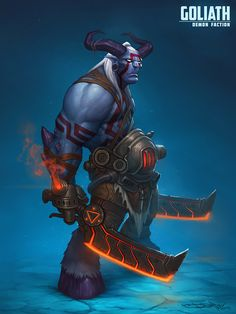 Goliath demon faction, Boris Dyatlov on ArtStation at https://www.artstation.com/artwork/ZdWEN