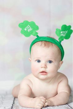 St. Patricks Day baby, 6 months, Jennifer Lux Photography, Inland Empire Photographer