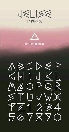 Caligraphy Alphabet Discover Fonts - Kerrie Legend Jelise Typeface by Sham Nasaar. Alphabet Code, Alphabet Symbols, Typography Alphabet, Typography Fonts, Tattoo Alphabet, Caligraphy Alphabet, Alphabet Letters, Script Fonts, Lettering Styles