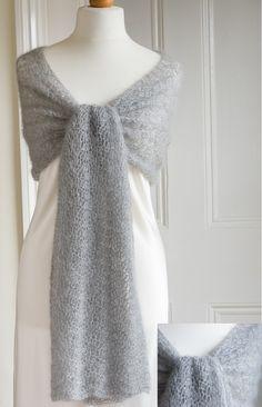 the crimson rabbit, Silver Waves Crochet Wrap, main
