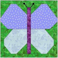 BUTTERFLY PAPER PIECING QUILT BLOCK PATTERN