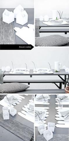 DIY: Tischset und Windlicht - Haus - mit Druckvorlage