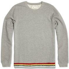 Folk Crochet Sweat (Light Grey Marl) (£139.00) - Svpply