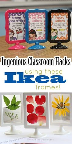 Classroom (and homeschool) teachers need to know about this! These Ikea frames are indispensable!