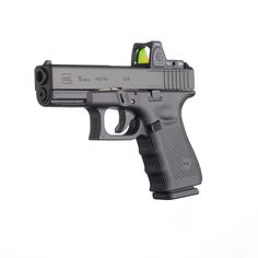 The Glock 19 Gen 4 Modular Optic System (MOS) is a nice size, for those desiring a slightly smaller handgun. Airsoft Guns, Weapons Guns, Guns And Ammo, Glock 19 Gen 4, 9mm Pistol, Revolvers, Concealed Carry, Concealed Handgun, Self Defense