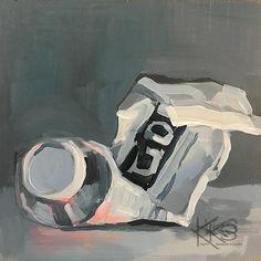 "Daily Paintworks - ""Light Magenta"" - Original Fine Art for Sale - © Kimberly Santini"