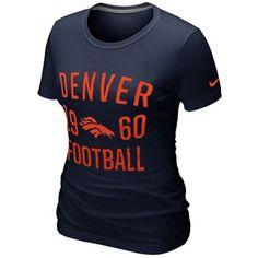 Nike Denver #Broncos Ladies Gridiron Premium T-Shirt!