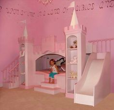 Cute little girls bed.....my daughter would go CRAZY over this!