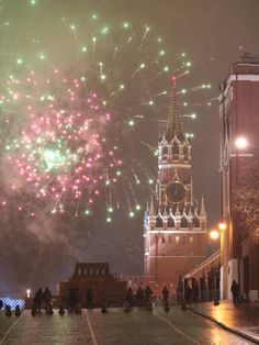 Fireworks in Moscow, Russia - Christmas Moscow Russia, Fireworks, Around The Worlds, Winter, Christmas, Winter Time, Xmas, Navidad, Noel