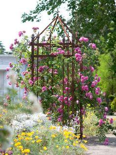 Sirligt rosentorn med kantiga former