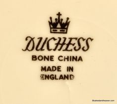 Duchess Winchester 1960s back stamp