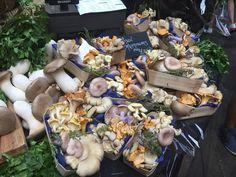 Incredibly beautiful mushroom baskets in Borough Market London