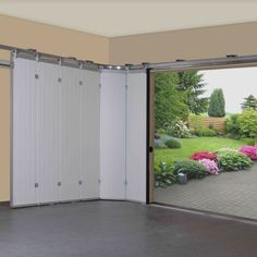 Amongst homeowners Folding sliding garage doors have grown in popularity and are available in a range of construction materials including PVC or wood, glass, aluminum or timber.