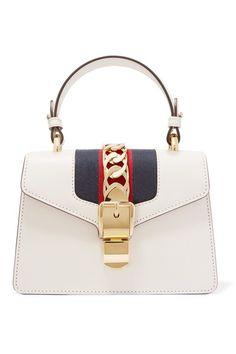 96eb8546aa4 NWT Auth Gucci Sylvie Off White Leather Web Bow Flap Shoulder Bag Handbag   fashion  clothing  s…