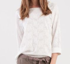 Momoé Cotton Lace T-shirt white and free