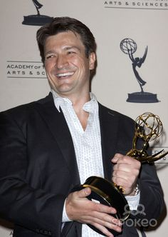 Nathan Fillion 61st Primetime Creative Arts Emmy Awards held at The Nokia Theatre - Press Room