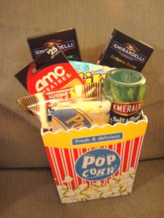 A night at the movies gift basket!