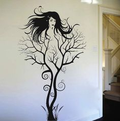 Abstract Tree Woman | TrendyWallDesigns.com