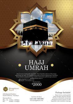 Hajj and Umrah Flyer File Features : <li>Size + Bleed area</li>. Flyer And Poster Design, Poster Background Design, Islamic Art Pattern, Pattern Art, Graphic Design Brochure, Logo Design, Mekka, Islamic Posters, Family House Plans
