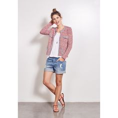 Crop Knit Jacket - another colourful knitted jacket...a great addition to cooler days with a tee and jeans...