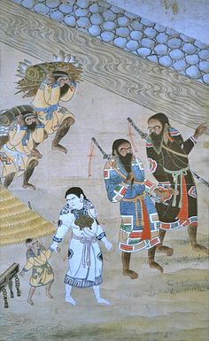 First Peoples Of Japan: Ainu Civilization And Its Unknown Origin Korean Art, Asian Art, Ancient History, Art History, Samurai, Ainu People, Aliens, Historical Art, Japan Illustration