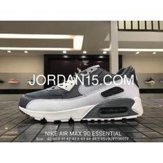 50b9c87fc13b2 Nike Air Max 90 Essential 537384-073 Mens Retro Running Shoes COOL GREY WOLF
