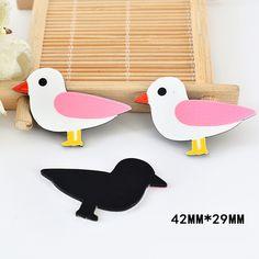 50pcs 42*29MM Cartoon Seagull Flatback Resin Kawaii Sea Bird Planar Resin DIY Craft For Home Decoration Accessories DL-691