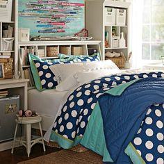 Stuff-Your-Stuff Classic Bed System (Bed, Towers, Shelves + Desk) | PBteen