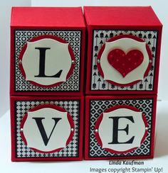 """Linda K's Stampin' Page: stacked with love dsp, soph. serif stamp set, apothecary accents die, 2"""" circle punch"""