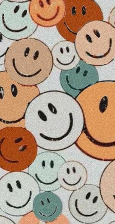 Happy Face 🙃 | Iphone Wallpaper Pattern, Aesthetic Iphone Wallpaper, Pretty Wallpaper Iphone D3A