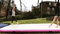 Flips Gymnastics, Gymnastics Moves, Amazing Gymnastics, Gymnastics Videos, Air Board, Dance Stuff, Aesthetic Collage, Cheerleading, Workouts