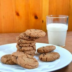 Eggless Double Chocolate Chip Cookies with wheat flour.
