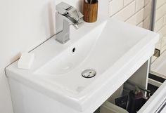 VeeBath Sphinx Wall Hung Vanity Units - WHED (700mm): Amazon.co.uk: Kitchen & Home