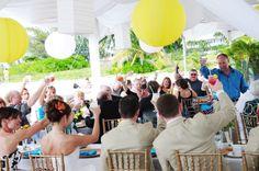 Grand Cayman wedding reception