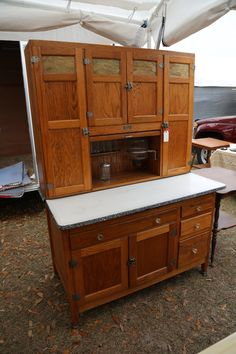 extra wide sellers cabinet with slag glass bakers cabinet with flour bin   antique oak hoosier sellers      rh   pinterest com
