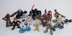 STAR WARS FIGURES mixed GALACTIC HEROES Hasbro 2001-2004 mixed lot 13 pcs