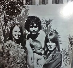 """Recently got confirmation that this rare photo was taken at LoveStreet outside on the front patio. Anne (Jim's sister), Jim, Anne's son/Jim's nephew and Pam."""