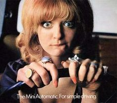 """Mini, 1971: The caption below the ad reads, """"It makes driving as effortless as sleeping. Sleeping, L... - Mini Cooper"""