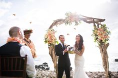 Butterfly Release Ceremony at a Bliss Maui Wedding