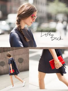 Look Back - J'aime beaucoup les robes super confortables, qui semblent aussi faciles qu'un jogging.   Ça donne de la liberté aux mouvements, c'est gracieux et parfait pour une journée d'été en ville.  Et ça marche encore mieux si c'est sage devant, et un peu dingue derrière !  PS Michele...