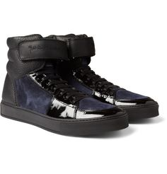 Yves Saint LaurentLeather and Suede Sneakers|MR PORTER