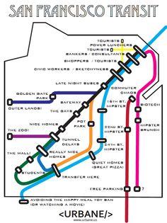 Urbane Map - San Francisco Transit