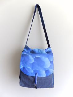 Turquoise Dahlia Bike Pannier by ANaif on Etsy
