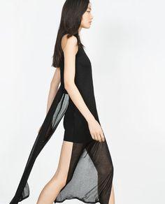 Image 4 of CREPE SLEEVELESS DRESS from Zara